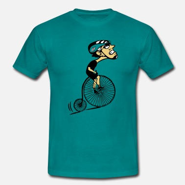 Uphill Bicycle oldtimer humorous uphill - Men's T-Shirt
