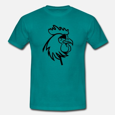 Cock Sunglasses Rooster angry dangerous sunglasses - Men's T-Shirt
