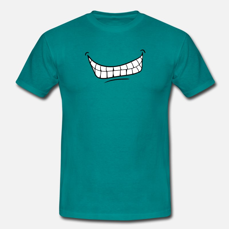 Costume T-Shirts - mouth teeth grin evil laugh - Men's T-Shirt diva blue