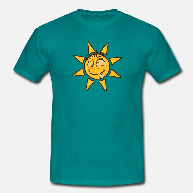 Bright T-Shirts - crazy crazy silly stupid sun comic cartoon funny h - Men's T-Shirt diva blue