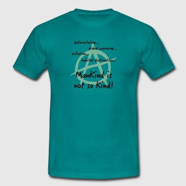 Eco eco anarchy mankind - Men's T-Shirt