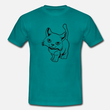 Naughty Baby Cat baby naughty - Men's T-Shirt