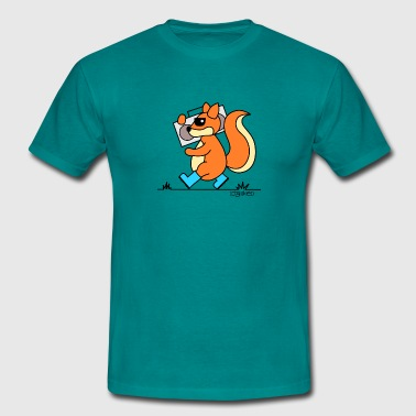 squirrel with music - Männer T-Shirt