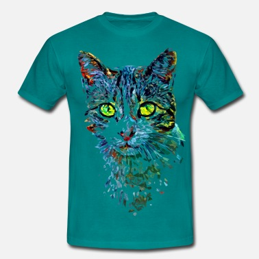 Colorful colorful cat - Männer T-Shirt