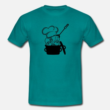 Head Cook zombie food cook cooking chef, master grill head p - Men's T-Shirt