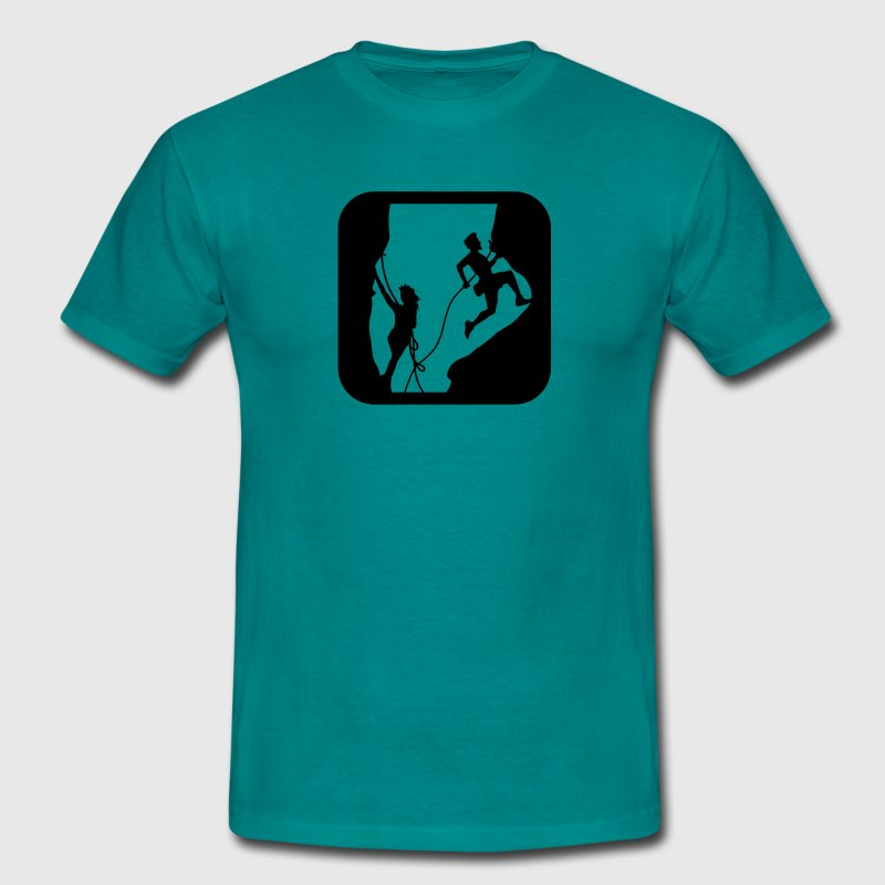 Cave climbing man woman slit Canyon - Men's T-Shirt