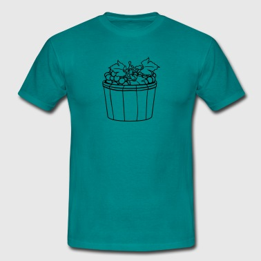 grape grapes harvest wine stomp tasty bucket vat o - Men's T-Shirt