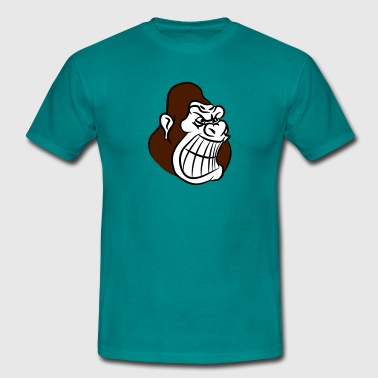 Evil Monkey Gorillas agro evil monkey - Men's T-Shirt