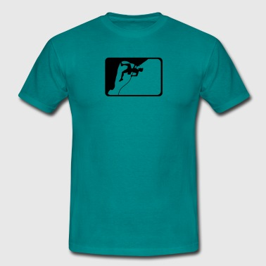 climbing sports logo design - Men's T-Shirt