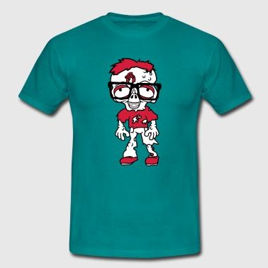 nerd  freak hornbrille pimple clasp zombi - Men's T-Shirt