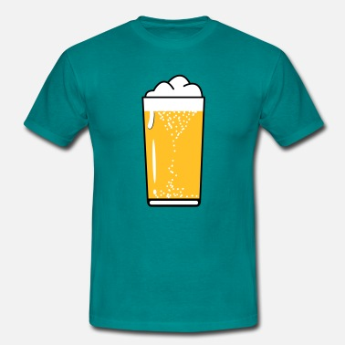 Drink Beer Drinking beer drinking beer glass - Men's T-Shirt