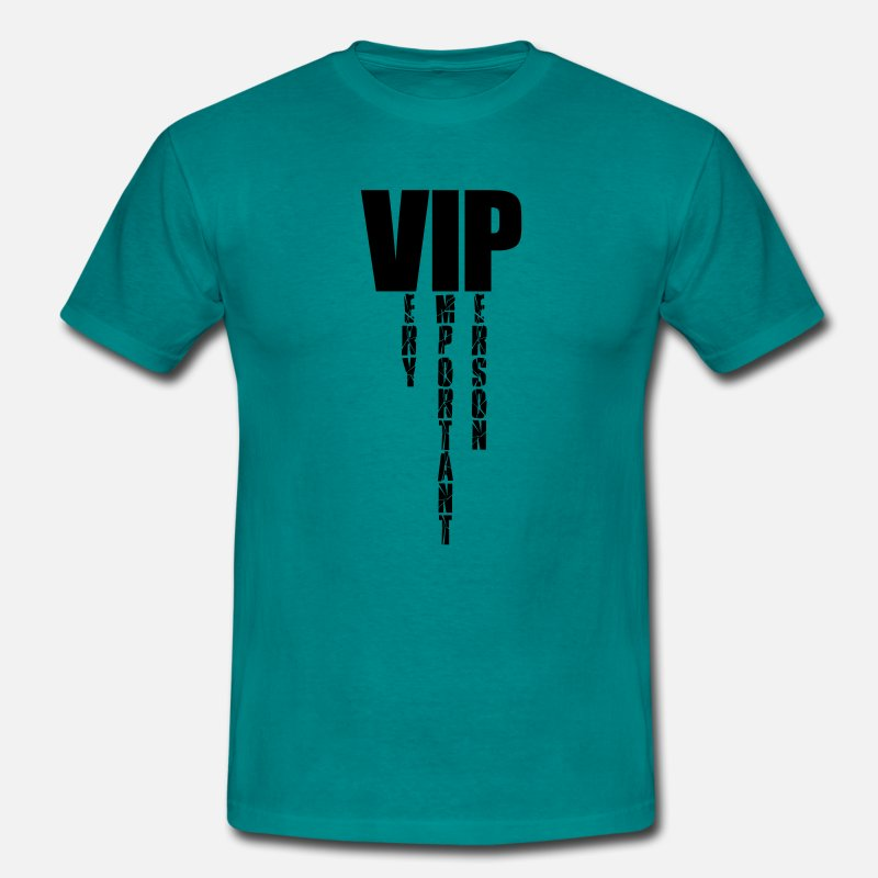 Vip T-Shirts - Very important person design cool logo sample text - Men's T-Shirt diva blue