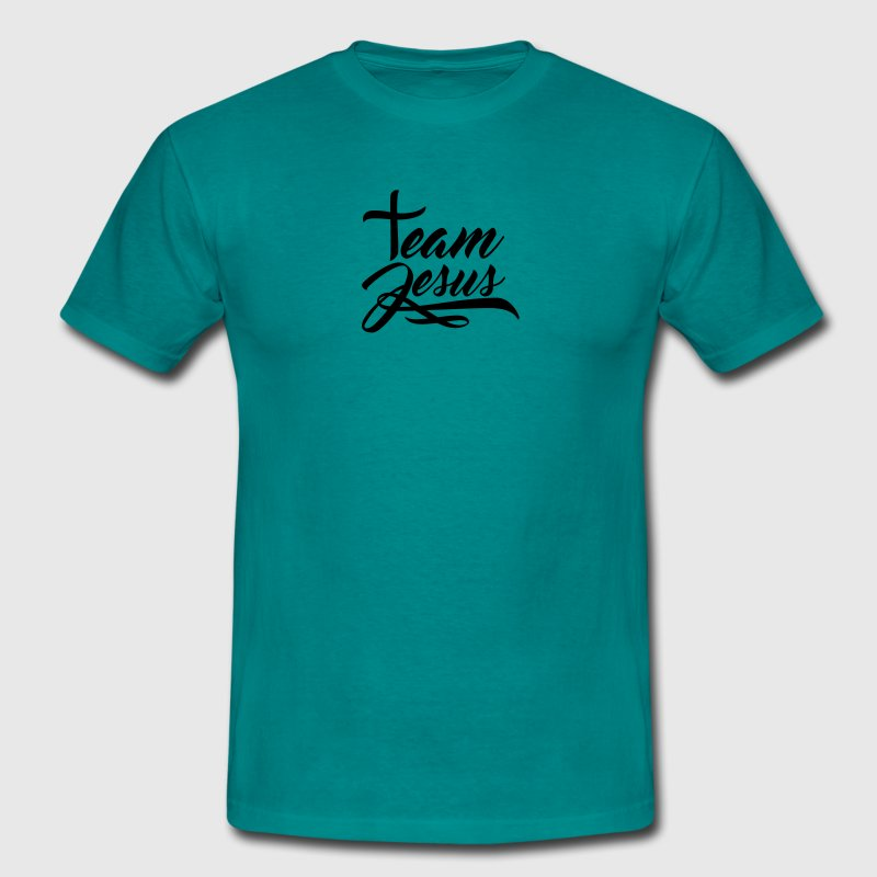 Text letter cross symbol team crew friends jesus c - Men's T-Shirt
