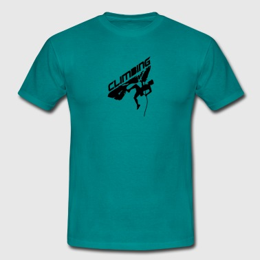 Cracks climbing rope man climbing logo - Men's T-Shirt