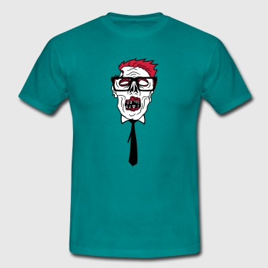 ties nerd  freak hornbrille pimple clasp  - Men's T-Shirt