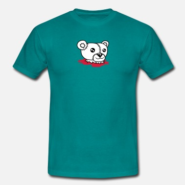 Headless Bears blood polar beheaded headless horror separated hal - Men's T-Shirt