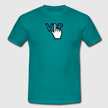Geek nerd computer mouse control hand click browse - Men's T-Shirt
