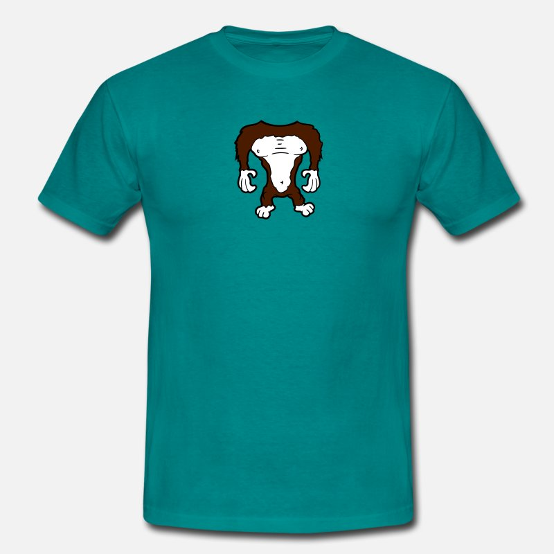 Animal T-Shirts - ape gorilla body without a head funny halloween co - Men's T-Shirt diva blue