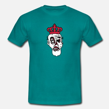 Prince Albert face head king prince albert scepter crown nasty d - Men's T-Shirt