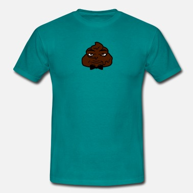 Shit Faced Mr fly face man excrement heap shit shit freak dis - Men's T-Shirt