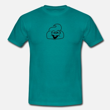 Poop Cute Laughing cute cute little shit pooping heap smell  - Men's T-Shirt