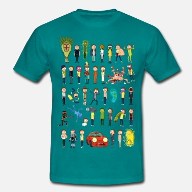 Rick And Morty Ricky and Morty The Many Morty's - Men's T-Shirt