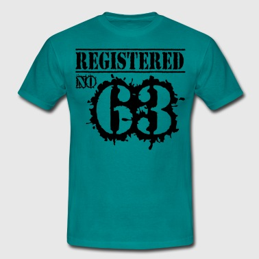 Registered No 63 - 53rd Birthday - Men's T-Shirt