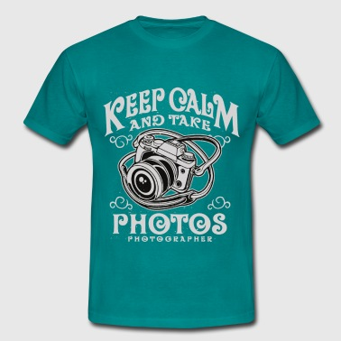 Keep Calm And Take Photos - Männer T-Shirt