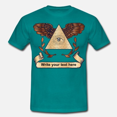 Platzhalter Illuminati ad your text - Männer T-Shirt