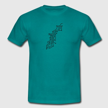 cool lines design circuitry technology lines micro T-Shirts - Men's T-Shirt
