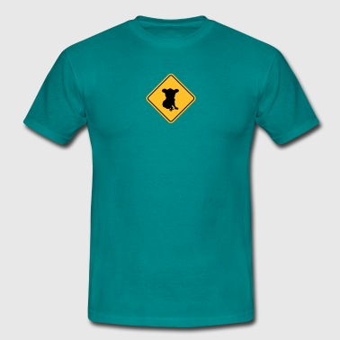 warning danger caution sign outback australia wild - Men's T-Shirt