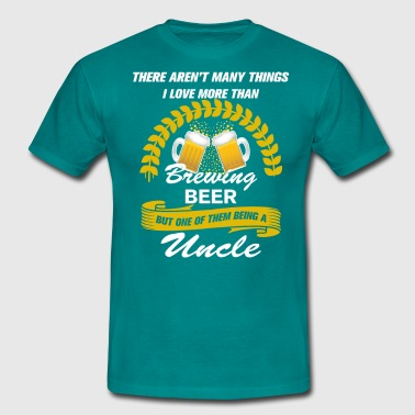 This Uncle Loves Brewing Beer - Men's T-Shirt