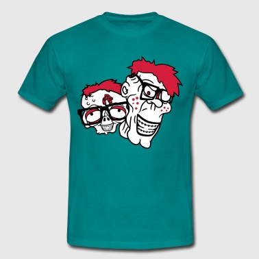 heads buddies team some young kid papa gay nerd ge - Men's T-Shirt