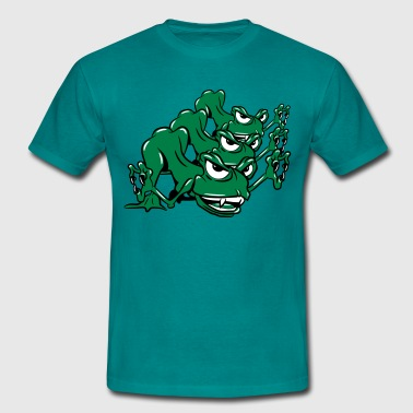 Monster roliga grodor attack - T-shirt herr