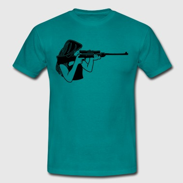 Protector rifle - Men's T-Shirt