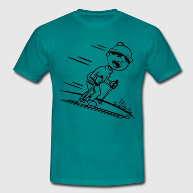 Winter holiday ski kids fun - Men's T-Shirt
