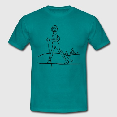Winter vacation skilanglauf sport - Men's T-Shirt