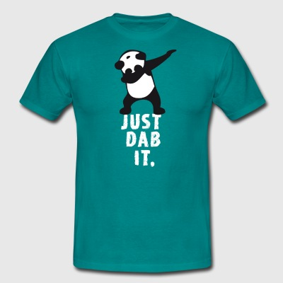 dab just dab it panda dabbing touchdown superbowl - Men's T-Shirt