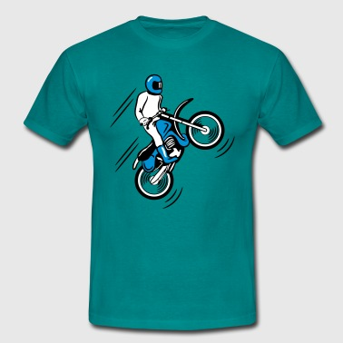 Motocross terrain race motorbike - Men's T-Shirt