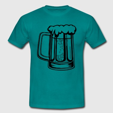Drinking beer thirst handle booze - Men's T-Shirt