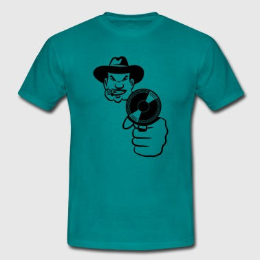 Head handgun gun - Men's T-Shirt