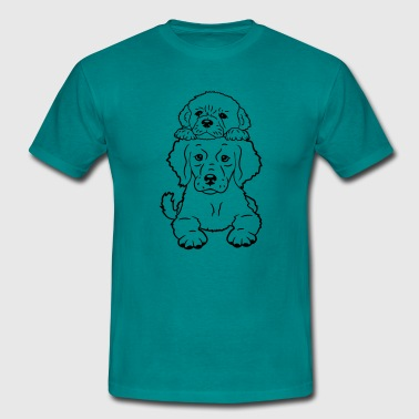 2 small this puppy soil wall - Men's T-Shirt