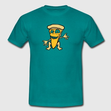 Cartoon Comic pizza margherita visage drôle morcea - T-shirt Homme