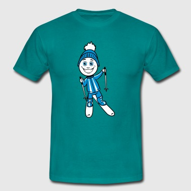 Winter holiday ski sport fun - Men's T-Shirt