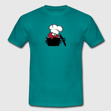 Cook hungry pot cook eat delicious chef kitchen st - Men's T-Shirt
