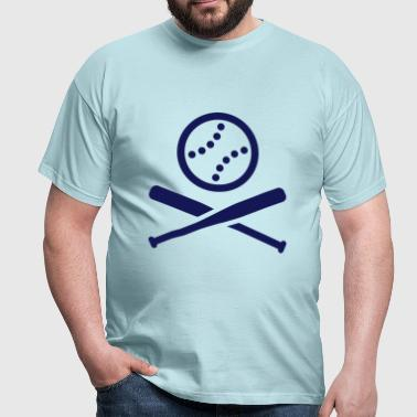 Baseball Softball Icon Piktogramm - Männer T-Shirt