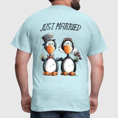 Just Married Penguins - Men's T-Shirt