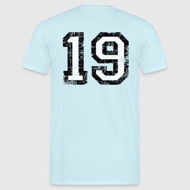 Number 19 number nineteen 19th birthday nineteenth - Men's T-Shirt