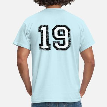 19 Number Numbers Numbers Numbers Number 19 number nineteen 19th birthday nineteenth - Men's T-Shirt