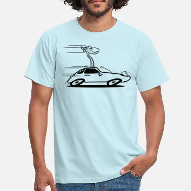 Funny Sports Giraffe funny sports car racing 1c - Men's T-Shirt